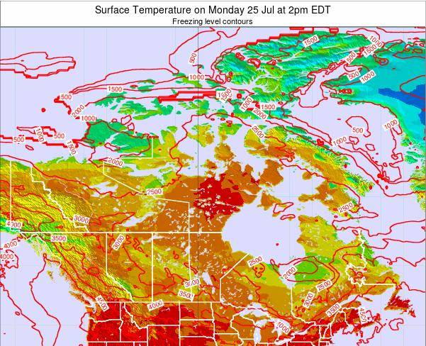 Canada Surface Temperature on Thursday 13 Mar at 8pm EDT