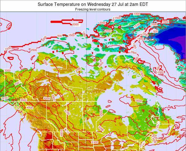 Canada Surface Temperature on Sunday 20 Apr at 2pm EDT