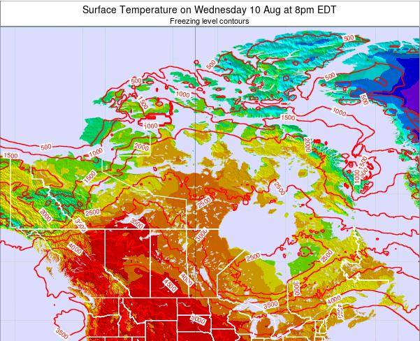 Canada Surface Temperature on Saturday 02 Aug at 8pm EDT