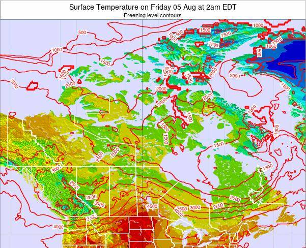 Canada Surface Temperature on Thursday 05 May at 2pm EDT