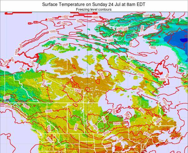 Canada Surface Temperature on Friday 01 Aug at 8pm EDT