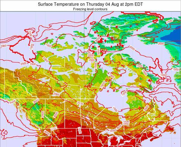 Canada Surface Temperature on Saturday 22 Oct at 8am EDT