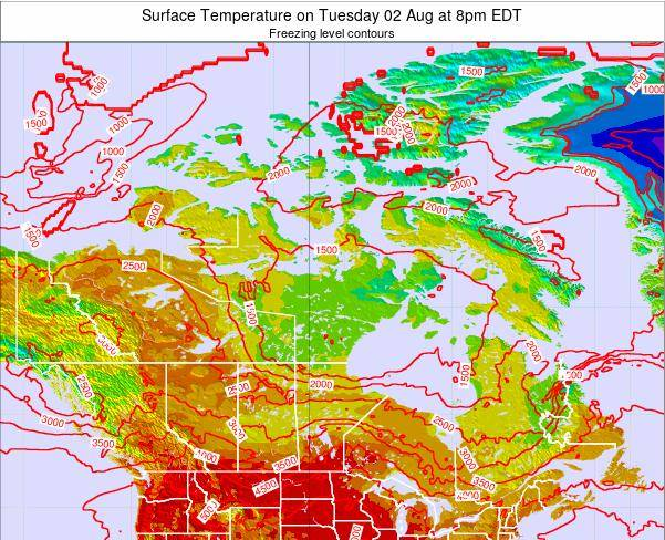 Canada Surface Temperature on Wednesday 23 Apr at 2pm EDT