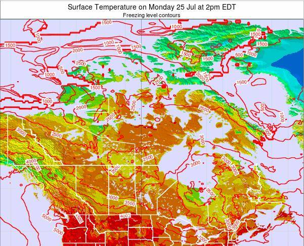 Canada Surface Temperature on Thursday 12 Dec at 1pm EST