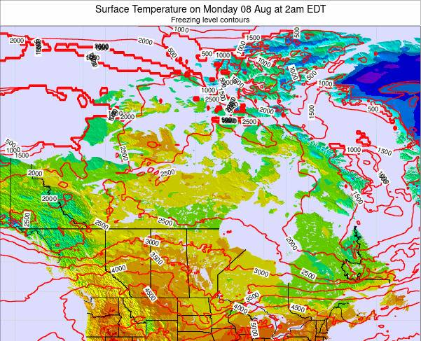Canada Surface Temperature on Wednesday 16 Apr at 2pm EDT