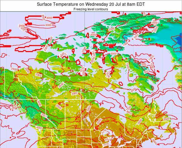 Canada Surface Temperature on Friday 24 Oct at 8am EDT
