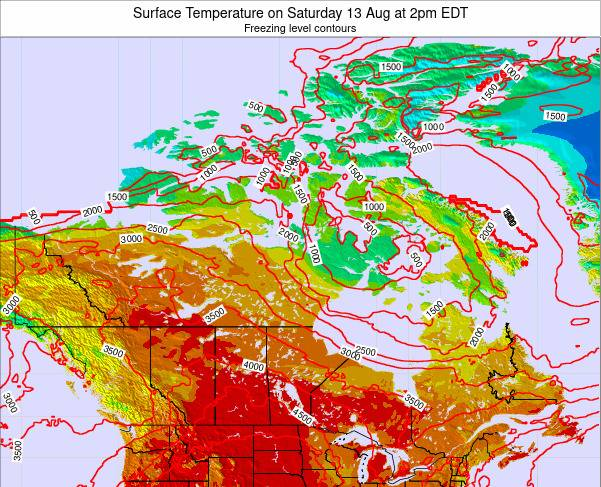 Canada Surface Temperature on Monday 21 Apr at 8pm EDT