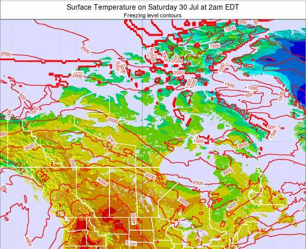 Canada Surface Temperature on Saturday 25 May at 8pm EDT