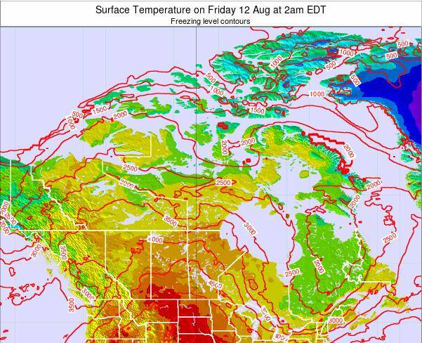 Canada Surface Temperature on Wednesday 30 Apr at 2pm EDT