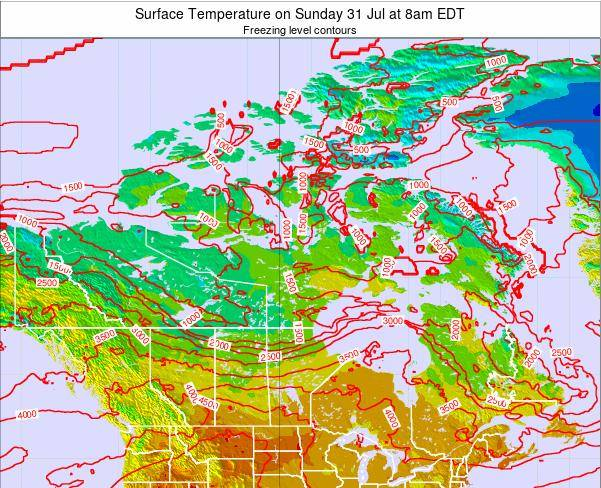 Canada Surface Temperature on Saturday 29 Oct at 8pm EDT