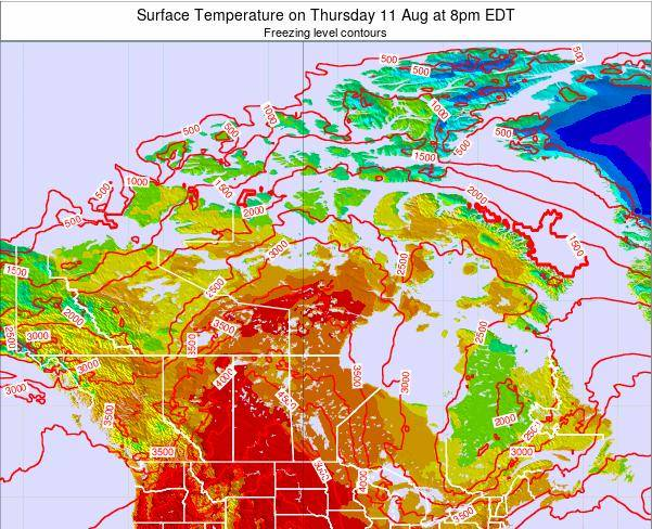 Canada Surface Temperature on Sunday 16 Mar at 2pm EDT