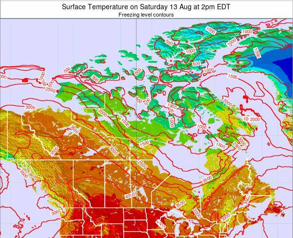 Canada Surface Temperature on Sunday 16 Mar at 8pm EDT