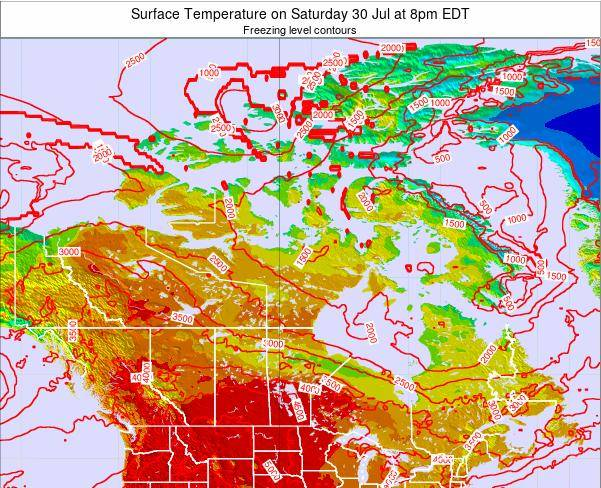 Canada Surface Temperature on Thursday 24 Apr at 8pm EDT
