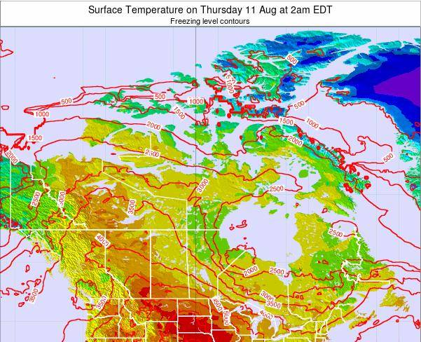 Canada Surface Temperature on Sunday 31 Jul at 2pm EDT