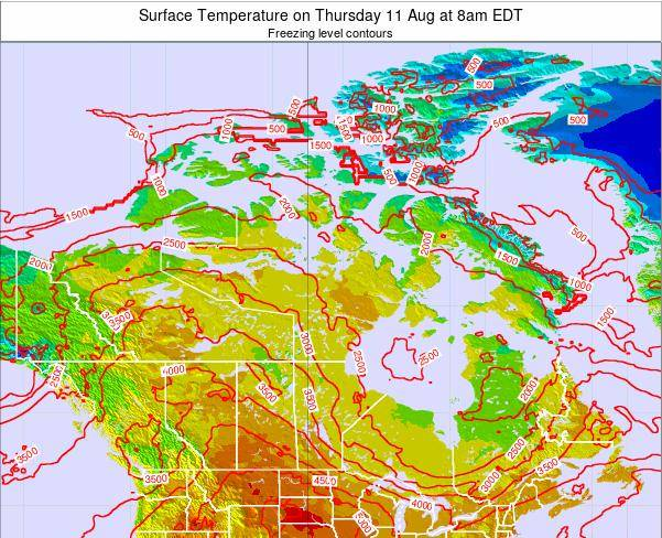 Canada Surface Temperature on Thursday 01 May at 2am EDT