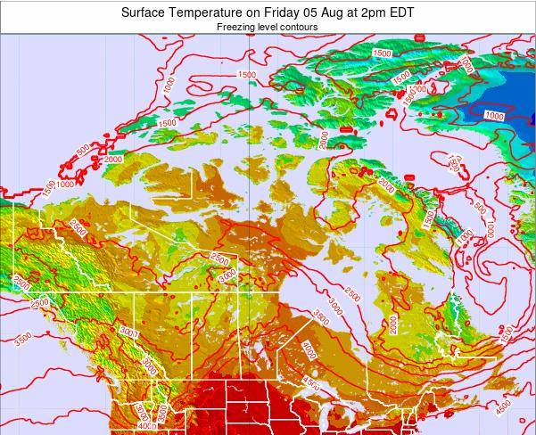 Canada Surface Temperature on Tuesday 28 May at 8am EDT