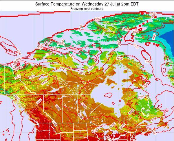 Canada Surface Temperature on Friday 02 Jan at 7am EST