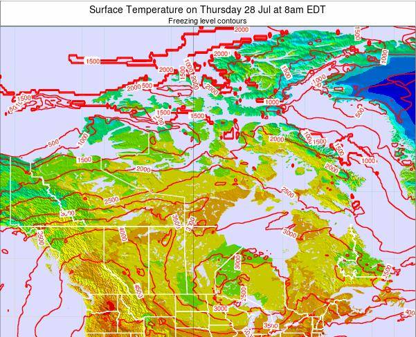 Canada Weather Map Temperature.Canada Surface Temperature On Wednesday 07 Nov At 7am Est