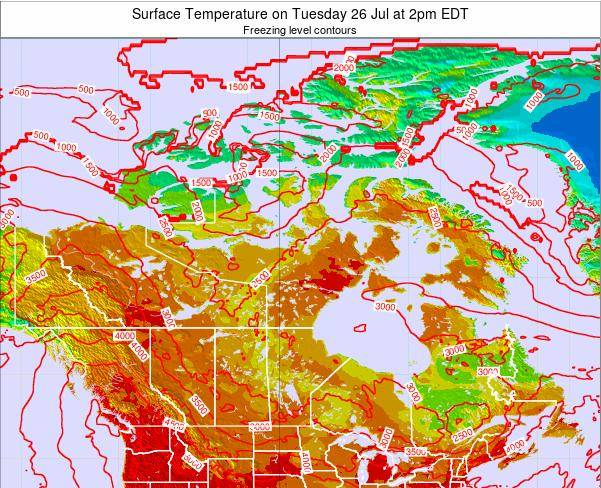 Canada Surface Temperature on Monday 04 Aug at 2am EDT