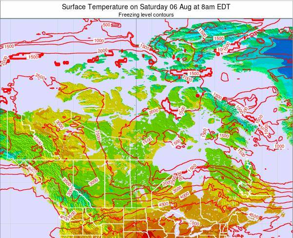 Canada Surface Temperature on Sunday 26 Oct at 2pm EDT