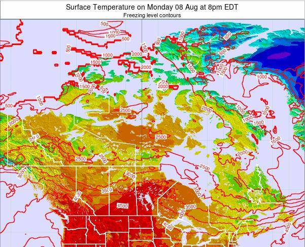 Canada Surface Temperature on Saturday 26 Apr at 8pm EDT