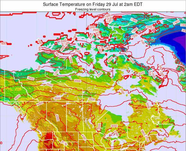 Canada Surface Temperature on Monday 30 Nov at 7pm EST