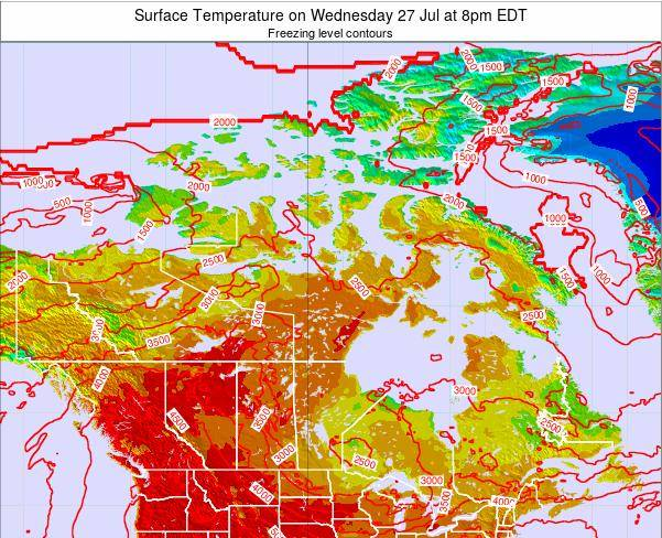 Canada Surface Temperature on Sunday 20 Apr at 2am EDT