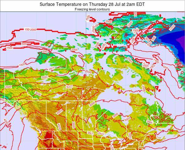 Canada Surface Temperature on Friday 05 Sep at 2am EDT