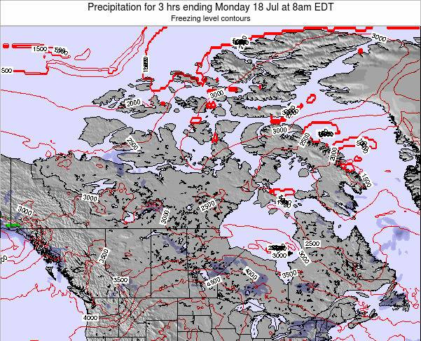 Canada Precipitation for 3 hrs ending Saturday 25 May at 8pm EDT