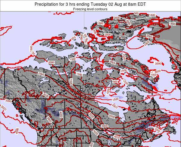 Canada Precipitation for 3 hrs ending Thursday 30 May at 2am EDT