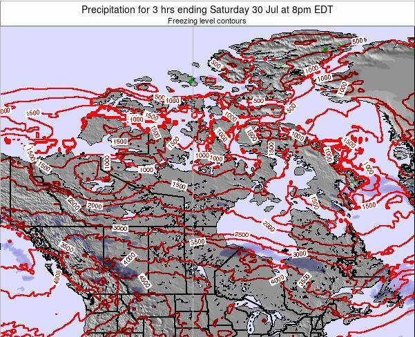 Canada Precipitation for 3 hrs ending Friday 31 May at 2pm EDT