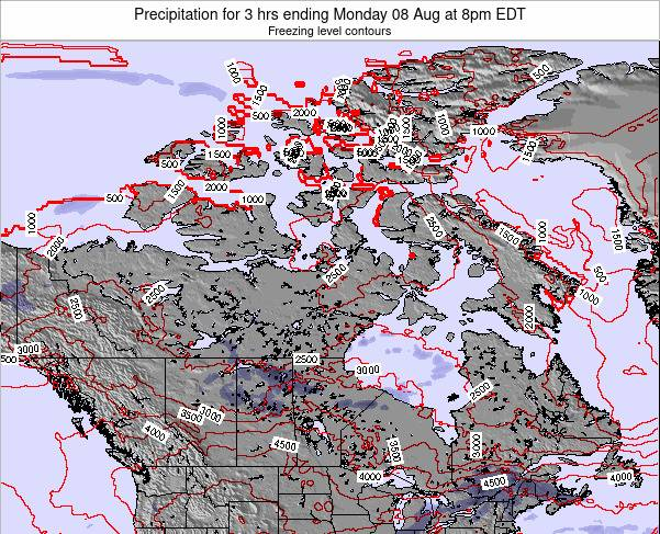 Canada Precipitation for 3 hrs ending Wednesday 22 May at 2pm EDT map
