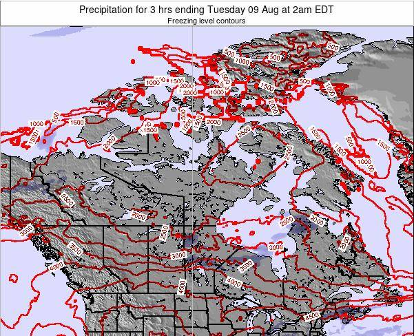 Canada Precipitation for 3 hrs ending Monday 21 Apr at 8am EDT