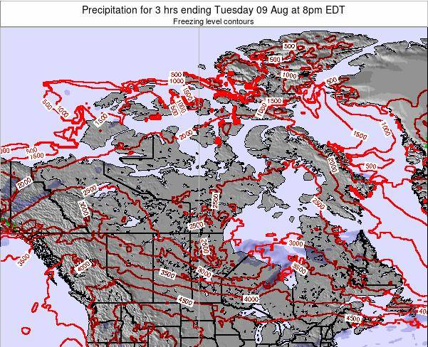 Canada Precipitation for 3 hrs ending Saturday 26 Jul at 8am EDT
