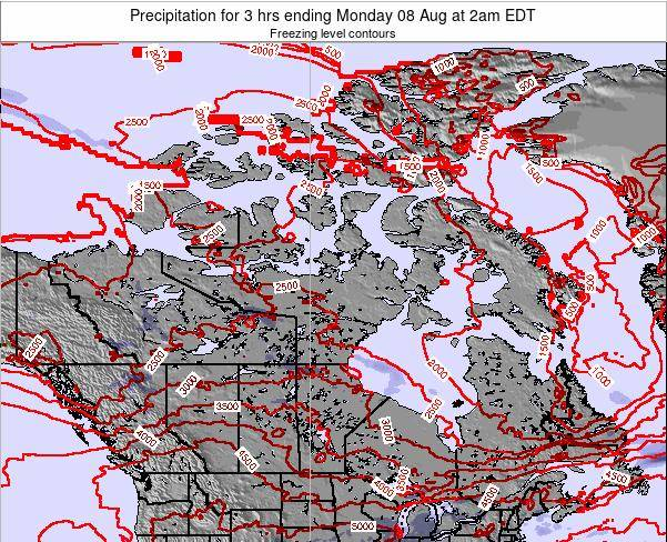 Canada Precipitation for 3 hrs ending Monday 16 Dec at 7am EST