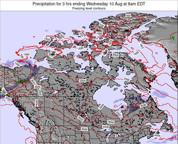Canada Precipitation for 3 hrs ending Monday 04 Aug at 2pm EDT