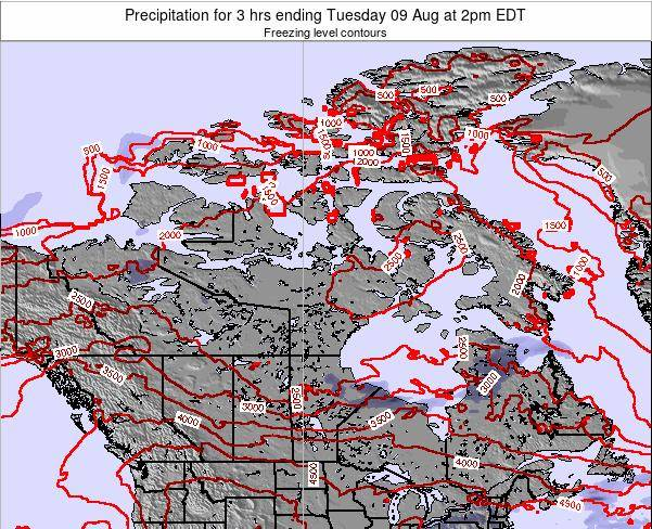 Canada Precipitation for 3 hrs ending Monday 27 May at 2pm EDT