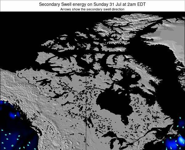 Canada Secondary Swell energy on Saturday 28 Apr at 8am EDT map