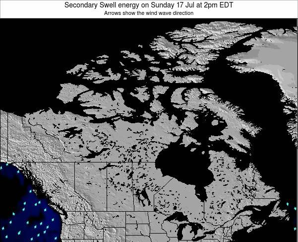 Canada Secondary Swell energy on Wednesday 19 Jun at 8am EDT