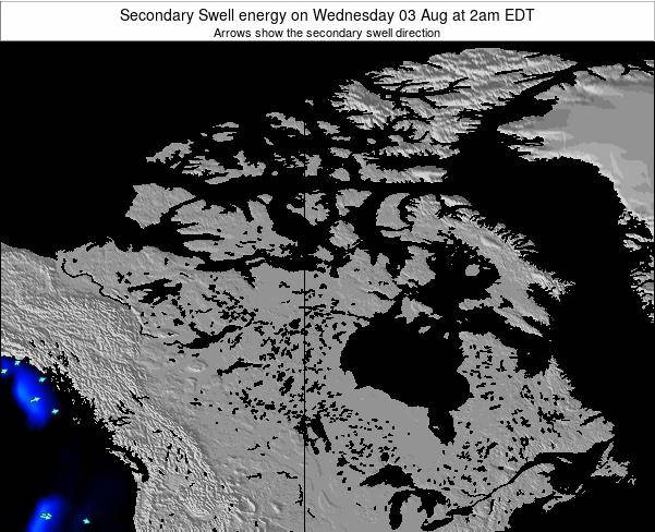 Canada Secondary Swell energy on Friday 01 Aug at 2pm EDT