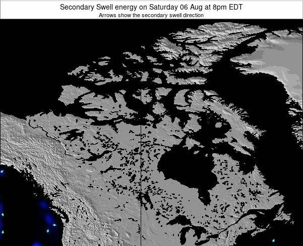 Canada Secondary Swell energy on Monday 22 Jan at 7am EST map