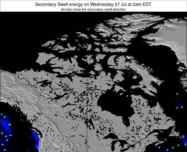 Canada Secondary Swell energy on Sunday 15 Dec at 7am EST