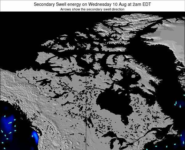 Canada Secondary Swell energy on Saturday 21 Jan at 7am EST