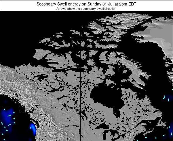 Canada Secondary Swell energy on Thursday 23 Feb at 7am EST