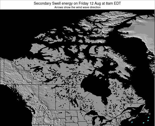 Canada Secondary Swell energy on Thursday 24 Apr at 8am EDT
