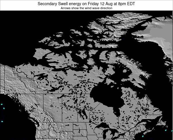 Canada Secondary Swell energy on Sunday 27 Apr at 2pm EDT