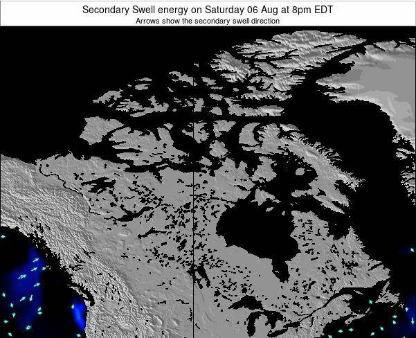 Canada Secondary Swell energy on Wednesday 05 Oct at 8am EDT