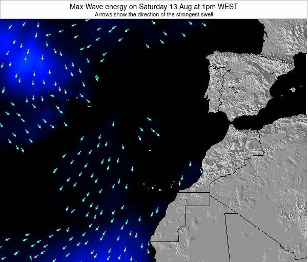 Western Sahara Max Wave energy on Wednesday 30 Apr at 1am WEST