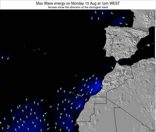 Western Sahara Max Wave energy on Thursday 02 Jun at 7pm WEST