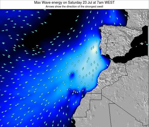 Western Sahara Max Wave energy on Thursday 01 May at 1am WEST